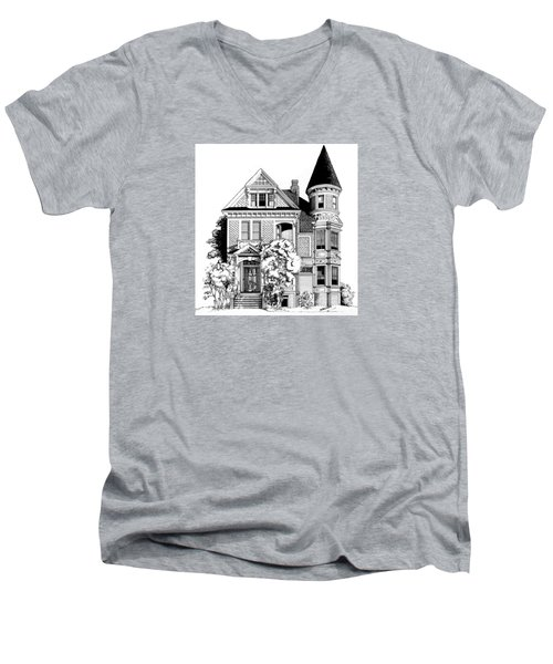 San Francisco Victorian Men's V-Neck T-Shirt