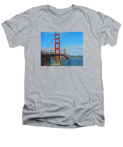 San Francisco's Golden Gate Bridge Men's V-Neck T-Shirt