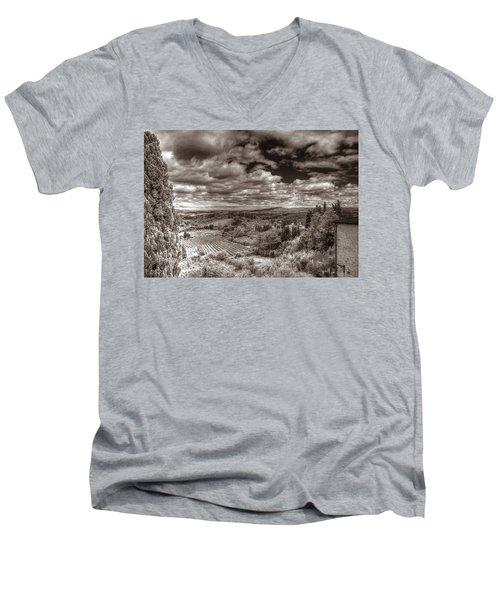 San Gimignano View Men's V-Neck T-Shirt
