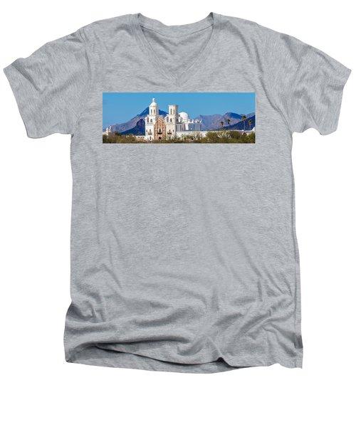 San Xavier Del Bac Mission Men's V-Neck T-Shirt