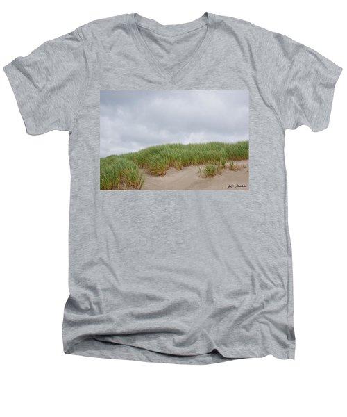 Sand Dunes And Grass Men's V-Neck T-Shirt