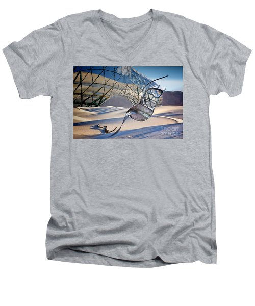 Sand Incarnations With Dali Men's V-Neck T-Shirt