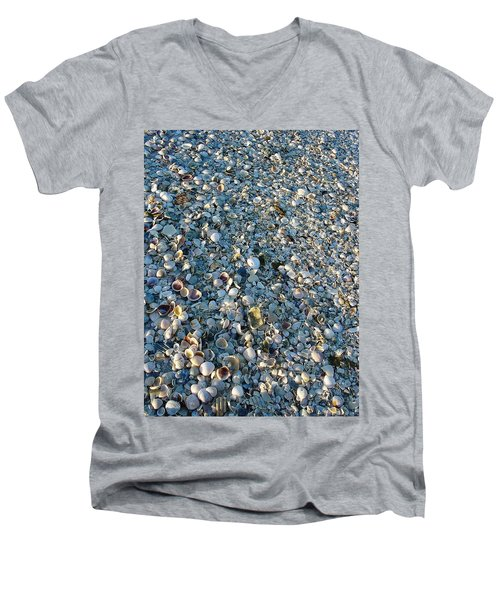 Men's V-Neck T-Shirt featuring the photograph Sand Key Shells by David Nicholls