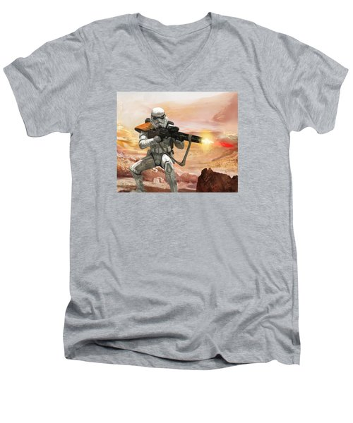 Sand Trooper - Star Wars The Card Game Men's V-Neck T-Shirt