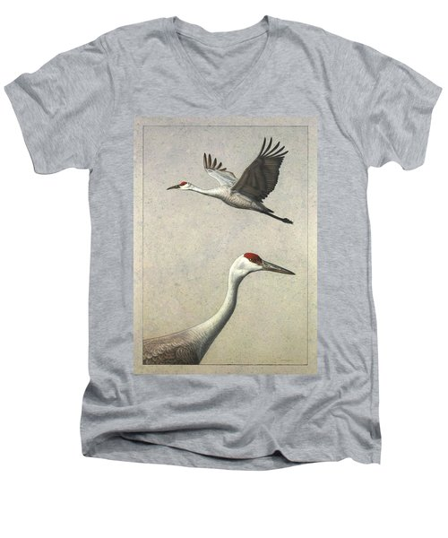 Sandhill Cranes Men's V-Neck T-Shirt