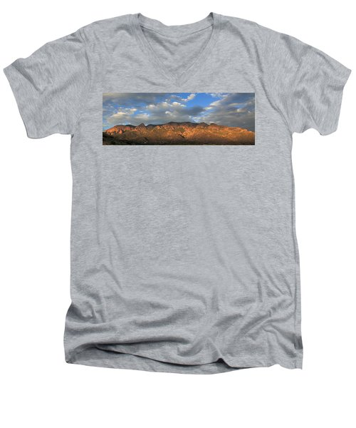 Sandia Crest At Sunset Men's V-Neck T-Shirt