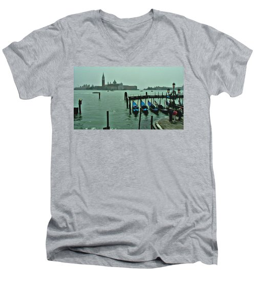 Men's V-Neck T-Shirt featuring the photograph Sanding By by Brian Reaves