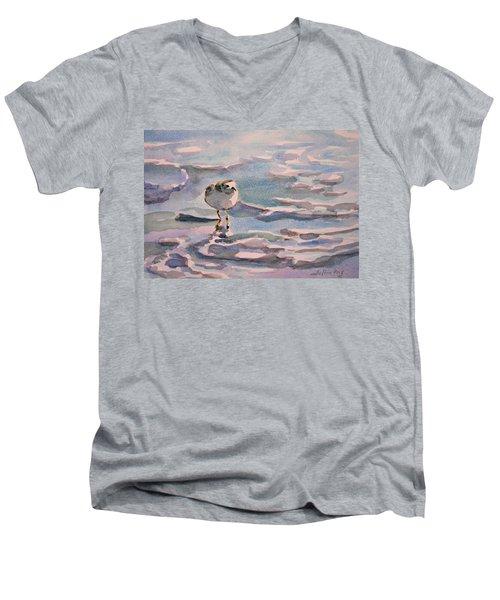 Sandpiper And Seafoam 3-8-15 Men's V-Neck T-Shirt