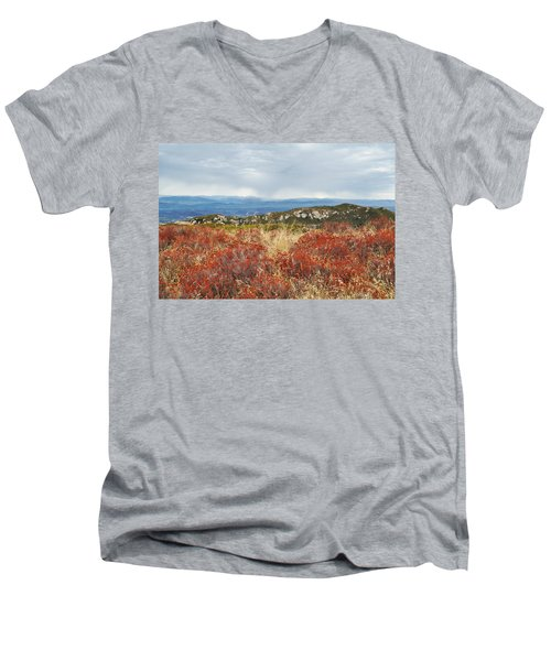 Sandstone Peak Fall Landscape Men's V-Neck T-Shirt