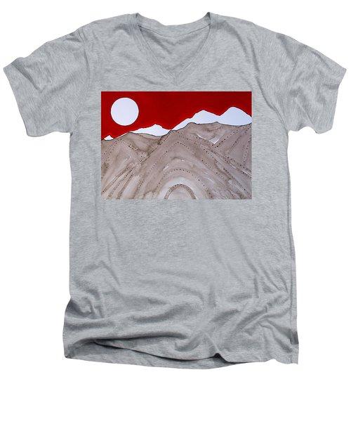 Sangre De Cristo Peaks Original Painting Men's V-Neck T-Shirt