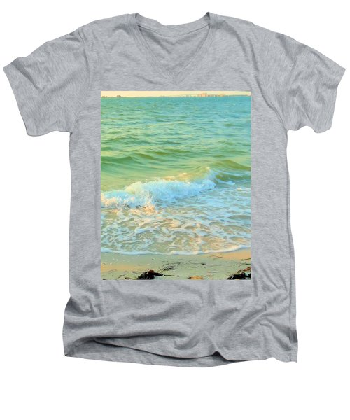 Men's V-Neck T-Shirt featuring the photograph Sanibel At Sunset by Janette Boyd