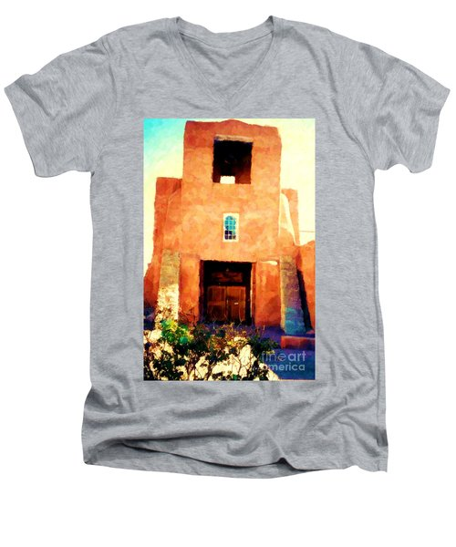 Sanmiguel Men's V-Neck T-Shirt by Desiree Paquette