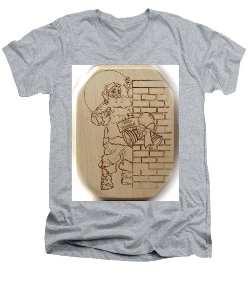 Santa Claus - Feliz Navidad Men's V-Neck T-Shirt