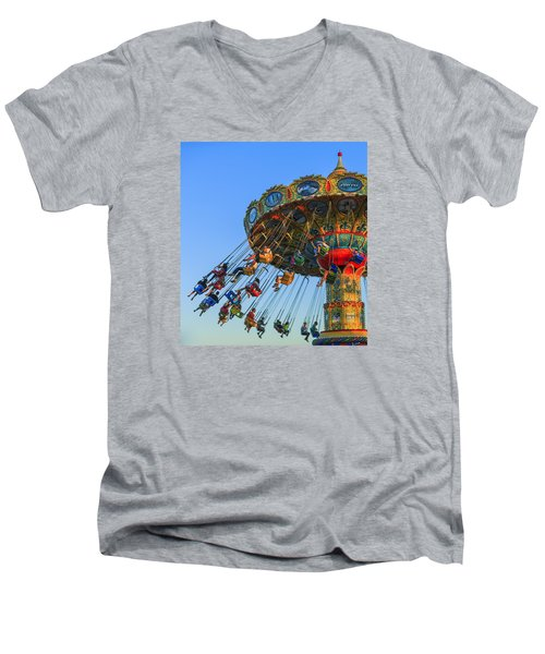 Santa Cruz Seaswing At Sunset 5 Men's V-Neck T-Shirt