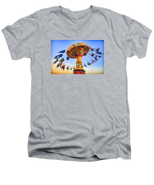 Santa Cruz Seaswing At Sunset 6 Painterly Men's V-Neck T-Shirt