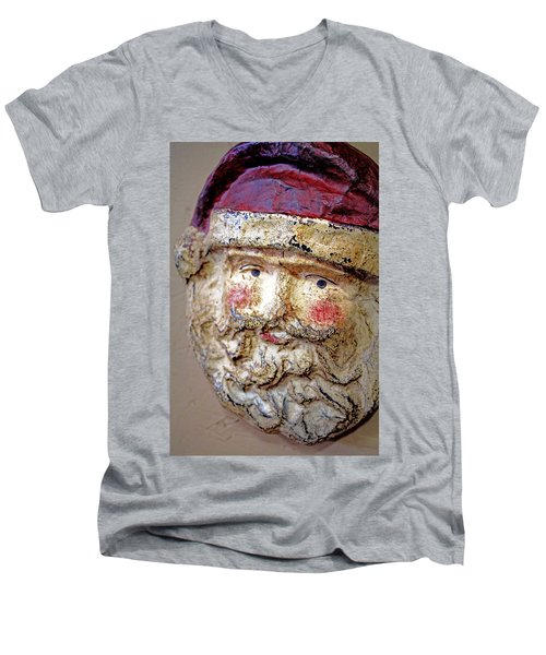 Men's V-Neck T-Shirt featuring the photograph Santa by Lynn Sprowl