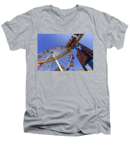 Santa Monica Pier Pacific Plunge Men's V-Neck T-Shirt