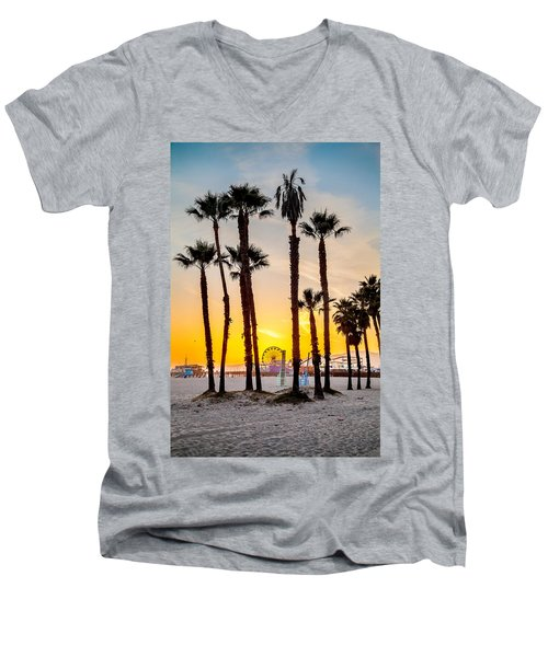 Santa Monica Palms Men's V-Neck T-Shirt