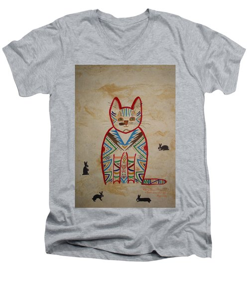 Sarah's Cat Men's V-Neck T-Shirt
