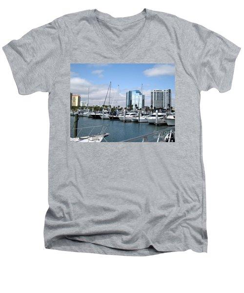Men's V-Neck T-Shirt featuring the photograph Sarasota Fl Usa by Oksana Semenchenko