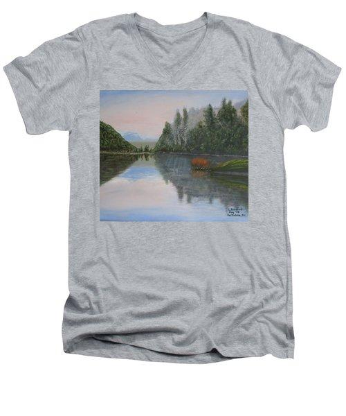Sarita Lake On Vancouver Island Men's V-Neck T-Shirt