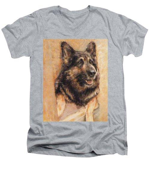 Sasha German Shepherd Men's V-Neck T-Shirt