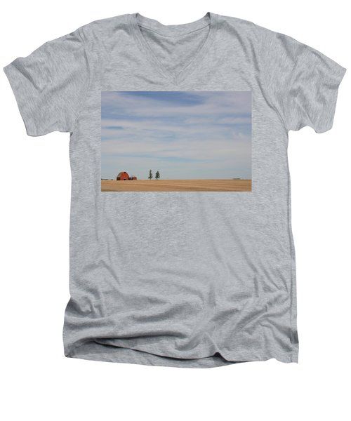 Men's V-Neck T-Shirt featuring the photograph Saskatchewan by Betty-Anne McDonald