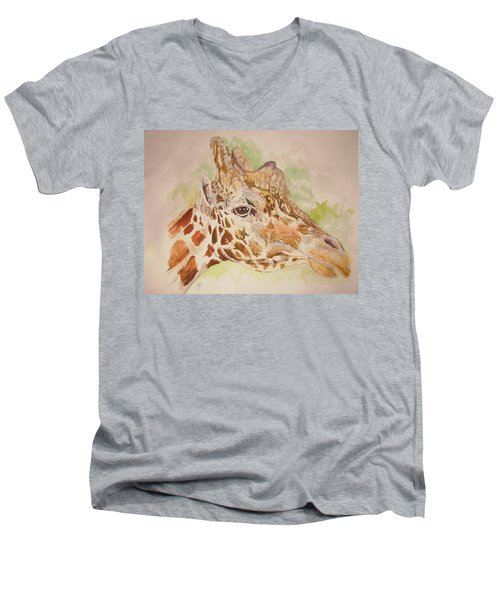 Savanna Giraffe Men's V-Neck T-Shirt