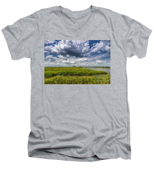 Savannah Wildlife Refuge  Men's V-Neck T-Shirt