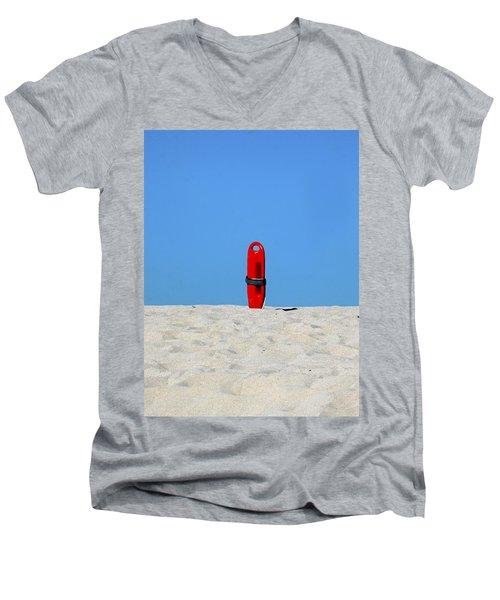 Save Me Men's V-Neck T-Shirt by Joe Schofield