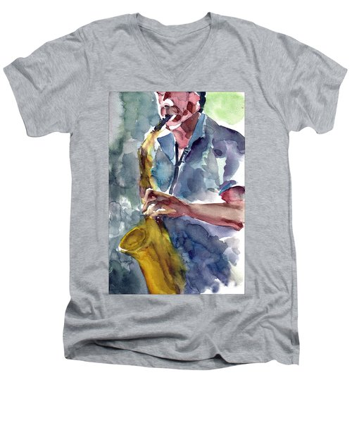 Saxophonist Men's V-Neck T-Shirt