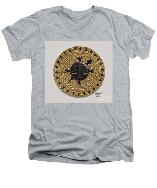 Scales Of Justice Men's V-Neck T-Shirt