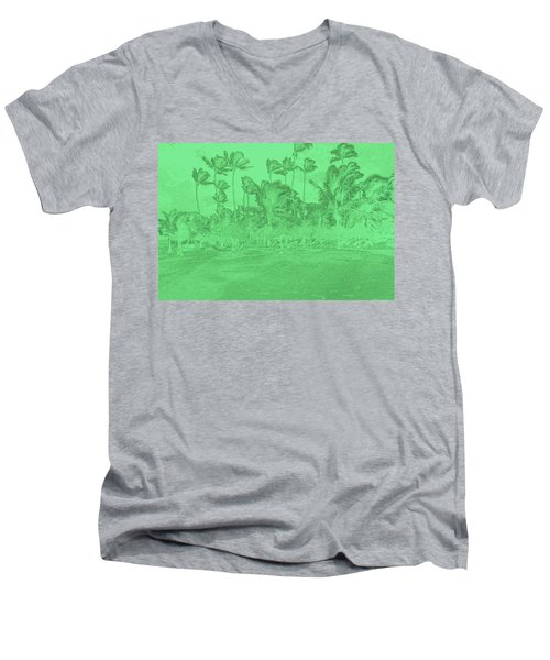 Scene In Green Men's V-Neck T-Shirt