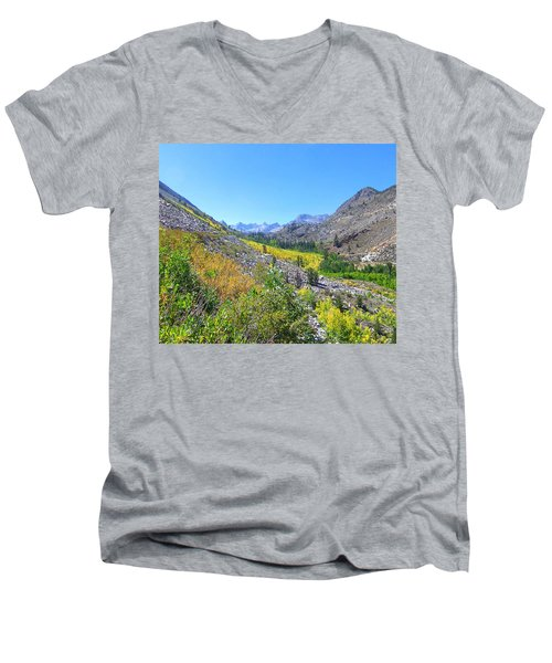 Men's V-Neck T-Shirt featuring the photograph Scenic Peace by Marilyn Diaz