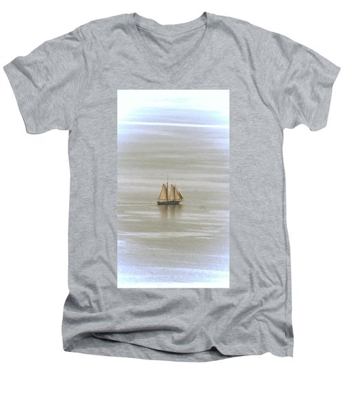 Schooner 1 Men's V-Neck T-Shirt by Joe Faherty