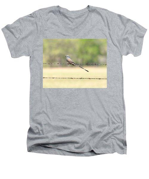 Scissor-tailed Flycatcher Men's V-Neck T-Shirt