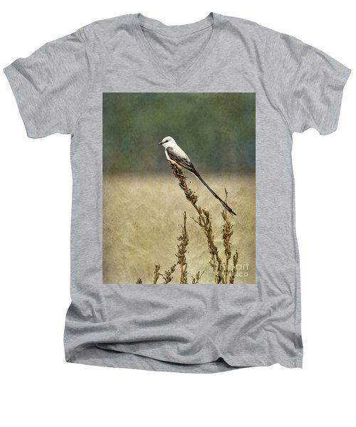 Scissortailed-flycatcher Men's V-Neck T-Shirt
