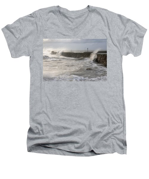 Scottish Sea Storm Men's V-Neck T-Shirt by Jeremy Voisey