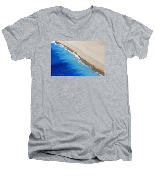 Men's V-Neck T-Shirt featuring the photograph Sea And Sand by Wendy Wilton