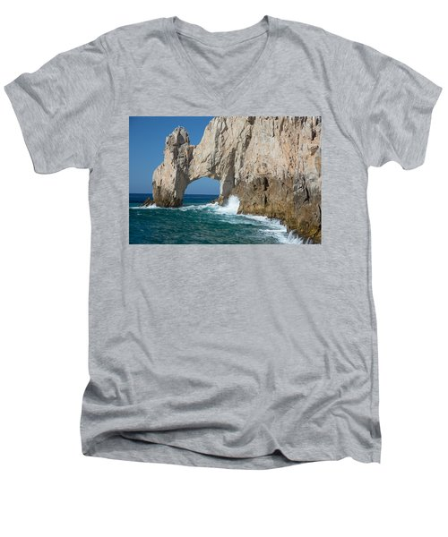Sea Arch El Arco De Cabo San Lucas Men's V-Neck T-Shirt