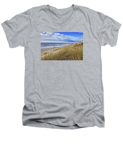 Sea Grass And Sand Dunes Men's V-Neck T-Shirt