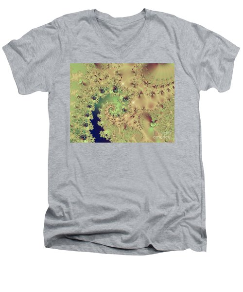 Sea Shells And Cockle Tales Abstract Digital Art Prints Men's V-Neck T-Shirt