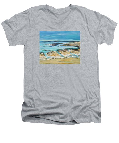 Sea Sky And Beach Men's V-Neck T-Shirt