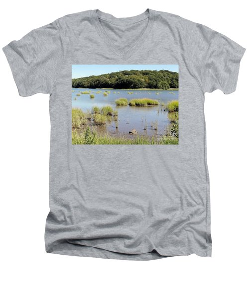 Men's V-Neck T-Shirt featuring the photograph Seagrass by Ed Weidman