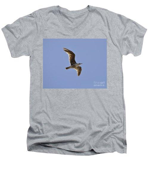 Seagull N Light  Men's V-Neck T-Shirt