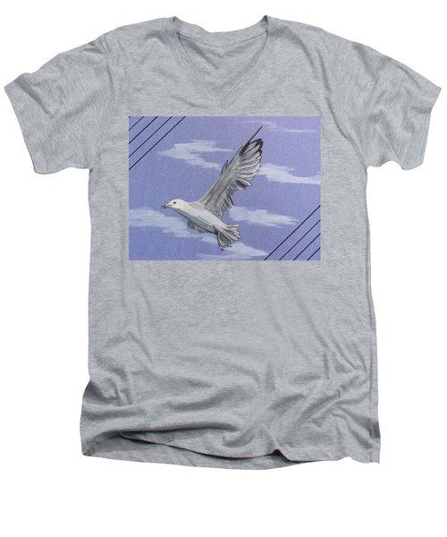 Seagull Men's V-Neck T-Shirt
