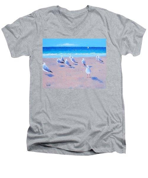 Seagulls Men's V-Neck T-Shirt