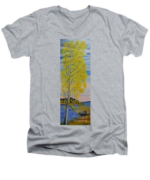 Seascape From Baltic Sea Men's V-Neck T-Shirt
