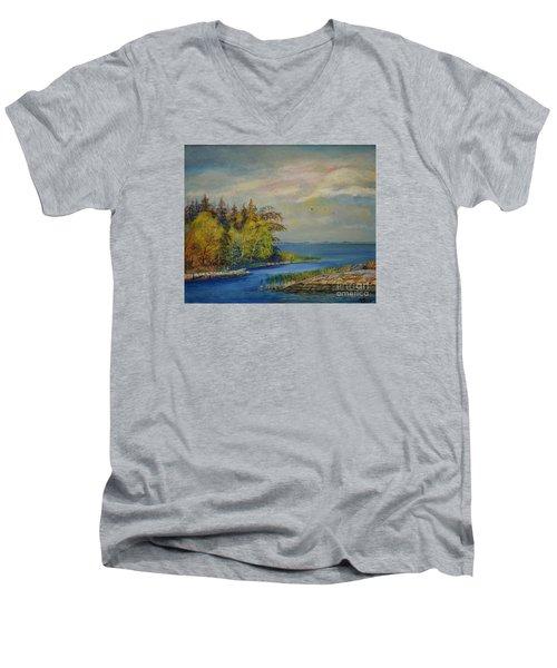Seascape From Hamina 3 Men's V-Neck T-Shirt