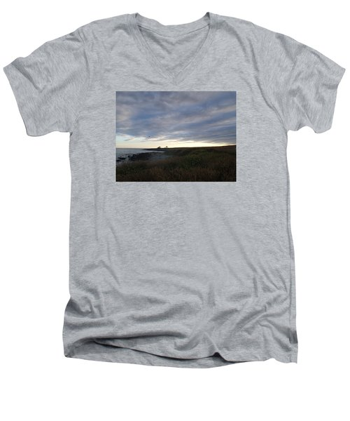 Men's V-Neck T-Shirt featuring the photograph Seascape by Robert Nickologianis